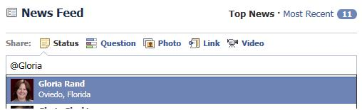 Do you know how to tag someone on facebook you type the @ symbol and