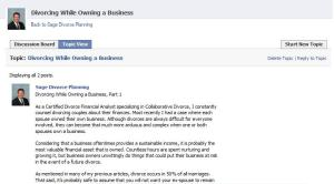 Facebook discussion tab