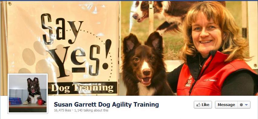 Susan Garrett Dog Agility Facebook Page