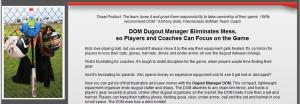 DOM Dugout Manager Website Home Page