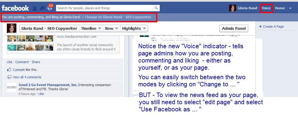 Facebook voice mode