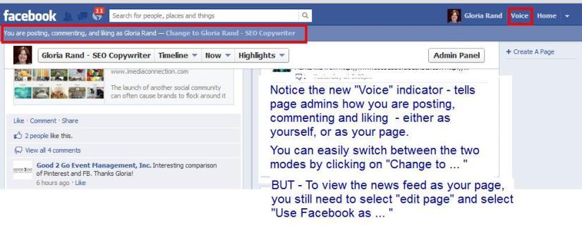 Facebook voice mode
