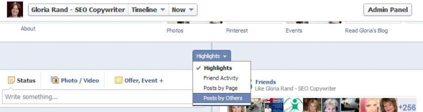 Finding Facebook fan posts