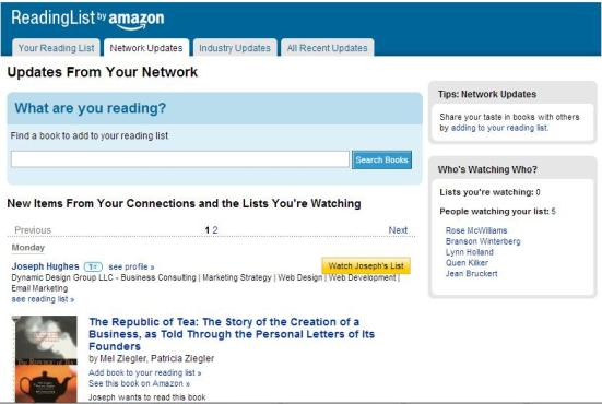 Reading List by Amazon for LinkedIn