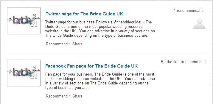 Bride Guide UK LinkedIn Company Page