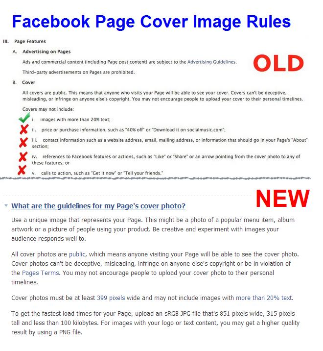 Facebook page cover image guidelines