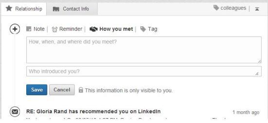 LinkedIn contacts